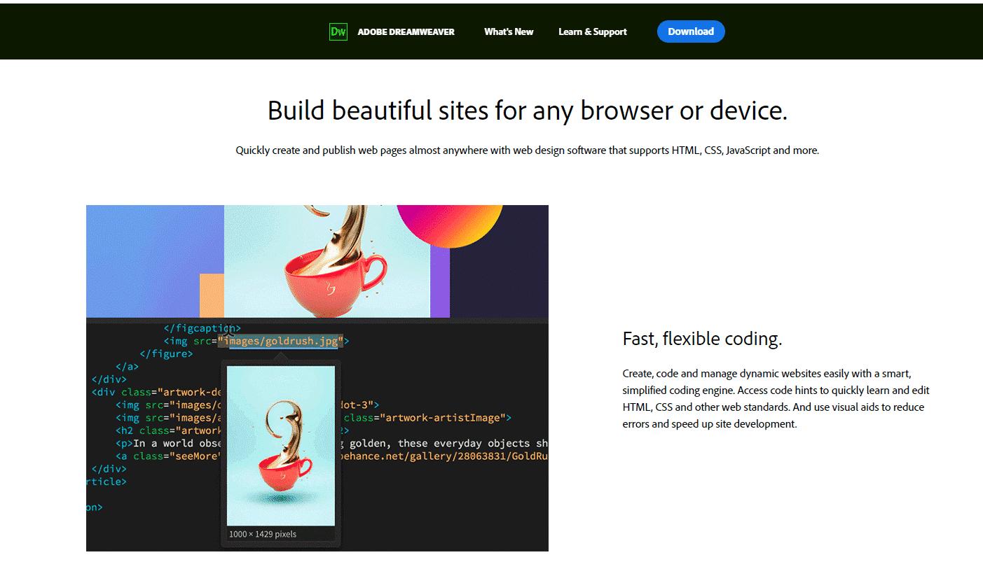 Dream weaver software